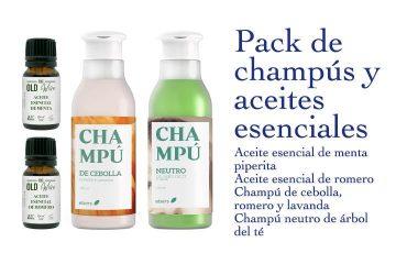 Pack de champús y aceites esenciales - Los Consejos de Michael
