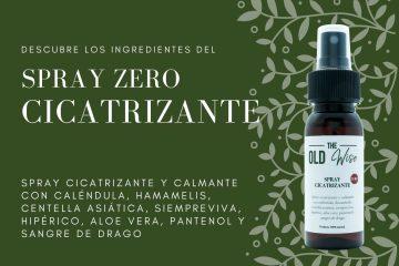 Ingredientes spray ZERO cicatrizante The Old Wise - Los Consejos de Michael